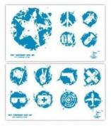 """Signs"" Temporary Tattoo Waterproof Body Tattoo Stickers 2pcs/set"
