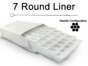 7 ROUND LINER TATTOO NEEDLE 50pc Box Machine Supply