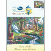 Disney Dreams Collection By Thomas Kinkade Snow White Discov-41cm x 30cm 18 Count