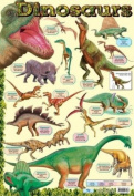 Dinosaur Chart Educational Mini Poster 40x60cm