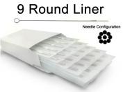 9 ROUND LINER TATTOO NEEDLE 50pc Box Machine Supply