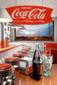 Memorabilia Maxi Poster featuring A Retro Diner and Vintage Coca Cola Bottles 61x91.5cm