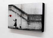Banksy Balloon Girl There Is Always Hope 15cm X 10cm Block Mounted Print