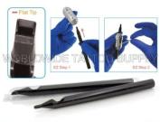 EZ 11 FLAT Disposable Tubes Black Sterilised 50pcs/Box Tattoo Supply