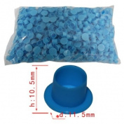 1000pcs Plastic #11.5MM Large Blue Tattoo Self-standing Ink Pigment Cup/Caps Supplies