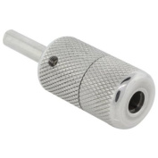 2.5cm Knurled Stainless Steel Tattoo Machine Grip - Screw Lock