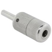 2.5cm Knurled Stainless Steel Tattoo Machine Grip - Screw Lock