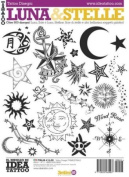 Book of LUNA & STELLE Illustrations - Italy Tattoo Book for Various Style Moons and Stars-