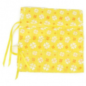 15-Slot Circular Knitting Needle Bag Holder Case w/ Flower Print