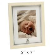 Bambino Baby Christening Gifts. MDF Photo Frame Mirror Print Teddy Bear 13cm x18cm