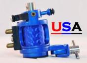 Blue Hybrid Hammer Rotary Tattoo Machine w/Free Case