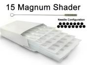 15 MAGNUM SHADER TATTOO NEEDLE 50pc Box Machine Supply