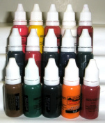 Iron Sakura Tattoo INK Pigment High Quality 15 Colours 15ml or 1/2oz Each 15 inks