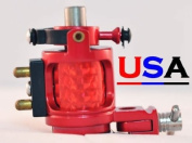 Red Hybrid Hammer Rotary Tattoo Machine w/Free Case