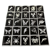 (25*2) 50 Adhesive Stencil, Glitter Tattoos or Face Painting.