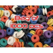1000 Colourful Rubber Tattoo Grommets