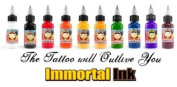 Immortal Tattoo Ink 10-pack Set 1/60ml Bottles -Tattoo Supplies-