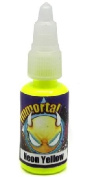 "Immortal Tattoo Ink ""NEON YELLOW"" 120ml Bottles -Tattoo Supplies-"