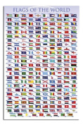 Flags Of The World Poster Gloss Laminated - 91.5 x 61cms