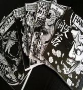 JAPAN RARE TATTOO FLASH BOOK ART MAGAZINE Vol.1-7 Horimouja Jack Mosher A Yuelong supply #TB-214
