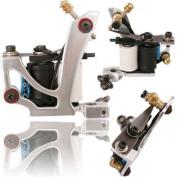 NEW PRO Air Craft Aluminium in Silver Polished Tattoo Machine Gun USA