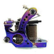 IRIDESCENT 8-Wrap Coil Tattoo Machine LINER or SHADER Tattoo Supply Ink