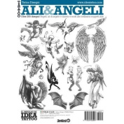 Tattoo Ali & Angeli Wings & Angels / Tattoo Flash Book Books / Tattoo Flash Art