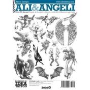 Tattoo Ali & Angeli Wings & Angels / Tattoo Flash Book Books / Tattoo Flash Art
