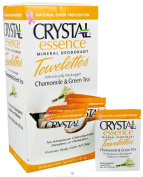 Crystal Body Deodorant Towelettes 4g/5ml - Chamomile & Green Tea