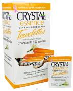 Crystal Body Deodorant Towelettes 4g/5ml - Chamomile & Green Tea