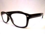 RETRO Wayfarer READING GLASSES +1.50 BLACK 1950's 60's Geek Nerd 1.5 Prescription Spectacles