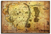 The Hobbit Movie Map Poster - 91.5 x 61cms