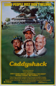 """Large Vintage Movie Poster Chevy Chase Bill Murray in """"CADDYSHACK"""""""