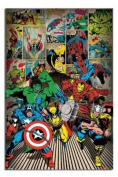 Marvel Comics Here Come The Heroes Poster - 91.5 x 61cms