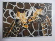 'Patterns of Africa' Giraffe Sanctuary Pollyanna Pickering blank greetings card
