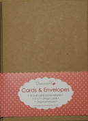 25cm x 13cm x18cm Recycled Kraft Card Blanks + Envelopes Natural Brown Buff