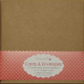 10 x Square 15cm Recycled Kraft Card Blanks + Envelopes Natural Brown