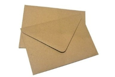 100x C6 Plain Flecked Recycled Kraft Card Envelopes Natural Brown (114x162mm A6)