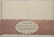 20 x A7 Quality Small Crisp White Kraft Card Blanks + Envelopes