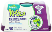 Pampers Kandoo Flushable Wipes, Sensitive, 50 Count Tub