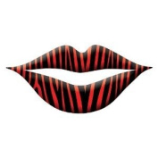 New Trendy Lip Wrap Tattoo's Includes 3 Applications - Zebra Red Print