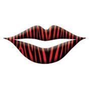 New Trendy Lip Wrap Tattoo's Includes 3 Applications - Zebra Red Print