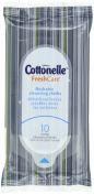 Cottonelle Fresh Care Flushable Cleansing Cloths On-The-Go Softpack, 10 Cloths