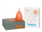Lunette Menstrual Cup - Coral - Model 2 for Medium to Heavy Menstruation - Natural Alternative for Tampons and Sanitary Napkins