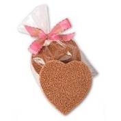 "Gilden Tree Terra Cotta Foot Scrubber w/polishing side Heart-Shaped ""Scrubbie"""