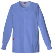Dickies Scrub Jackets Round Neck, Snap Front ( JACKET, SCRUB, DICKIES, CREW NECK, BLK, 5XL ) 1 Each / Each