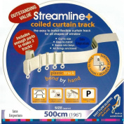 5m BENDABLE CURTAIN TRACK FOR STRAIGHT & BAY WINDOW RAIL Enough for 3 Standard Windows, Top or Face Fix all Fixings