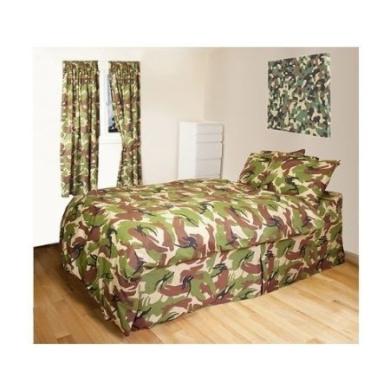 Curtains Ideas cheap camo curtains : Kids Camo Single Duvet Cover & Curtains Set - Army quilt cover ...