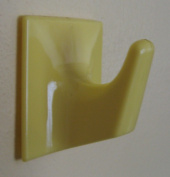 Pair of Lemon Self Adhesive Hooks - LS54-Square Shaped-Ideal For Heavy Duty Type Blind/Fly Curtain/Strip Blind -Holland Plastics Original