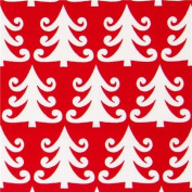 red Michael Miller Christmas fabric with fir trees